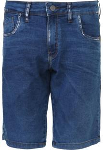 Bermuda Jeans Rock&Soda Reta Paint Splatter Azul - Kanui