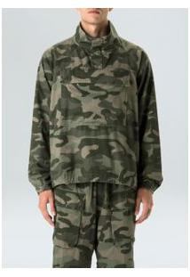 Casaco Over Soft Camuflado-Militar/ Verde