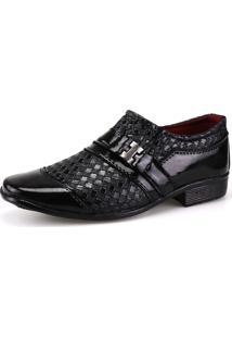 Sapato Social Infantil Neway Ws Shoes Preto Tricê