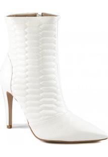 Bota Matelassê Bico Fino Stiletto Inverno Sapato Show 971063