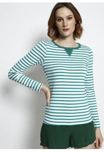 Camiseta Listrada- Verde & Branca- Coca-Colacoca-Cola