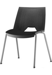 Cadeira Strike Assento Preta Base Cinza - 54071 - Sun House