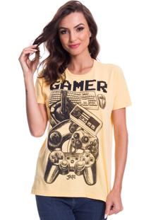 Camiseta Jazz Brasil Gamer Amarela
