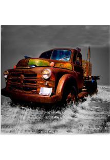Quadro Caminhão Velho Uniart Terra 45X45Cm