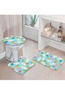 Jogo Tapetes Para Banheiro Cute Easter