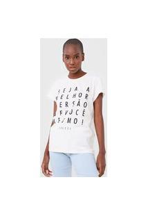 Camiseta Colcci Melhor Versão Off-White