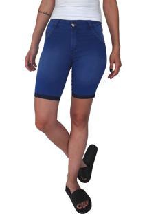 Bermuda Jeans Aero Jeans Ciclista Azul