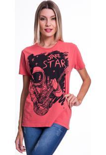 Camiseta Jazz Brasil Jazz Star Vermelha - Vermelho - Feminino - Algodã£O - Dafiti