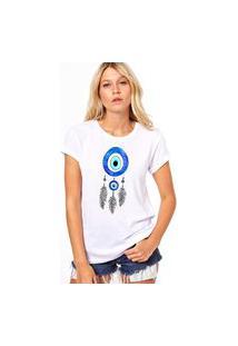 Camiseta Coolest Filtro Dos Sonhos Olho Grego Branco