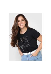 Camiseta Lez A Lez Bordados Preta