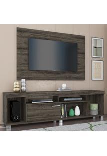 Rack Com Painel Para Tv 1 Porta Tomaz 702025 Vulcano - Madetec