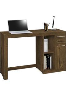 Mesa Para Computador Office Doris Nogal Rustico - Edn Móveis