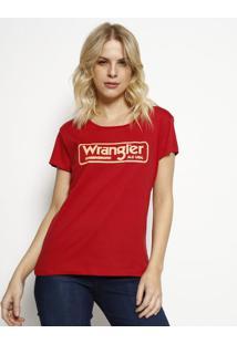 Camiseta ''Wranglerâ®''- Vermelha & Laranja Claro- Wrwrangler