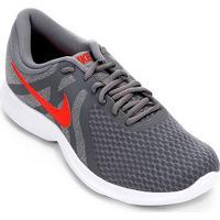 00da2e39b59 Tênis Nike Revolution 4 Masculino - Masculino-Cinza+Vermelho
