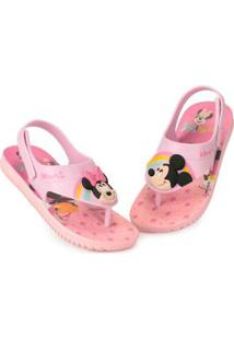 Sandália Infantil Grendene Disney Cute Fun Baby Rosa
