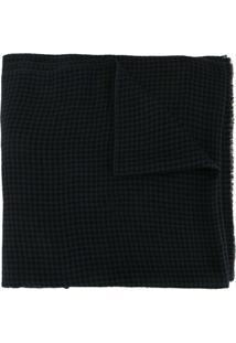 Janavi India Cachecol De Lã Merino Com Aplicação De Paetês - Azul