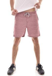 Bermuda Lorsa Com Elástico B Masculina - Masculino-Rosa