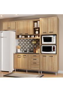 Cozinha Compacta Sicília Sem Tampo 9 Portas Argila - Multimóveis