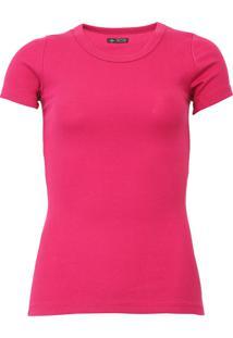 Camiseta Triton Canelada Rosa - Rosa - Feminino - Algodã£O - Dafiti