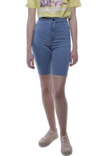 Bermuda Jeans Ciclista Pop Me Azul