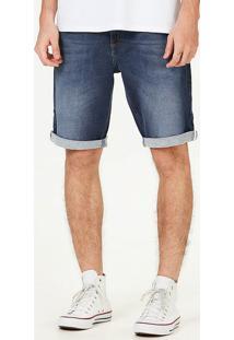 Bermuda Moletom Jeans Masculina Slim