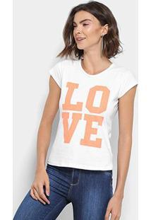 Camiseta Flora Zuu Estampa Love Feminina - Feminino