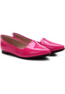 Sapatilha Moleca Slipper Verniz Feminina - Feminino-Pink