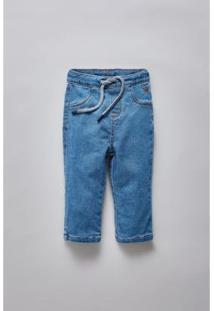 Calça Masculina Infantil Bb Jeans Bolso Basico Reserva Mini - Masculino-Azul Petróleo