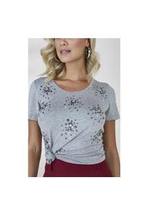 T-Shirt Cinza Kiara Cloá