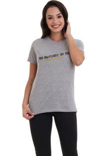Camiseta Jay Jay Básica Too Complicated Cinza Mescla Dtg