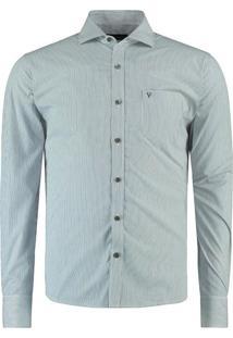 Camisa Vr Ft Listras Ml Azul
