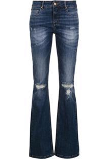 Amapô Calça Jeans Flare - Azul