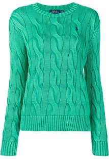 Polo Ralph Lauren Cable Knit Jumper - Green 3ff923a40897f
