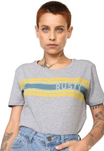 Camiseta Rusty Strippy Cinza