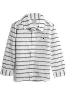 Camisa Hering Kids Menino Listrada Off-White