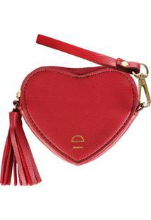 Porta Moedas Coração Paris Vermelho Le Postiche
