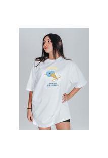 Camiseta Feminina Oversized Boutique Judith Hot Summer Branco
