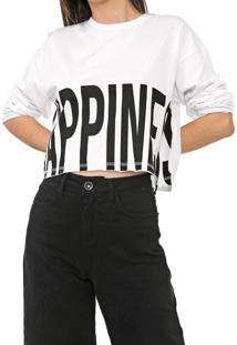 Camiseta C Lettering Branca