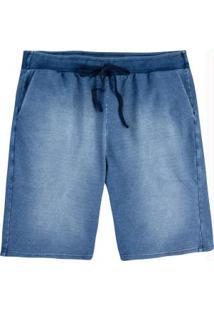 Bermuda Azul Comfort Moletinho Malwee