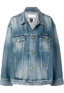 Facetasm Striped Denim Jacket - Azul