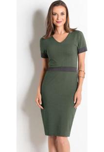 Vestido verde militar