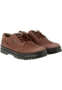 dd286cd800 Sapato Casual Couro Kildare Pespontos Tratorado - Masculino-Marrom