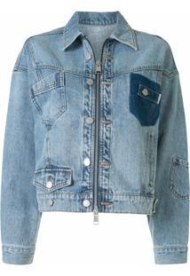 Portspure Jaqueta Jeans Com Lavagem Leve - Azul