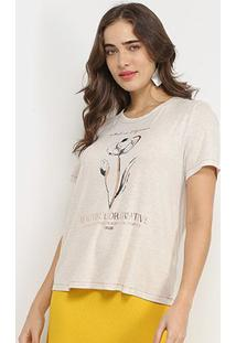 Camiseta Forum Beautiful Or Creative Feminina - Feminino-Off White