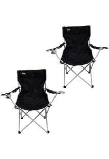 Kit 2 Cadeiras Dobráveis Com Porta Copo Alvorada Nautika - Unissex