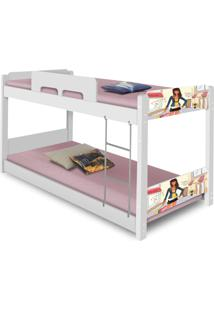 Beliche Baixa Adesivada Menina Moã§A Casah - Branco/Multicolorido/Rosa - Dafiti