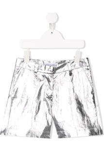 Simonetta Metallic Shorts - Prateado