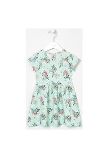 Vestido Infantil Estampa Floral - Tam 1 A 5 Anos | Póim (1 A 5 Anos) | Azul | 03