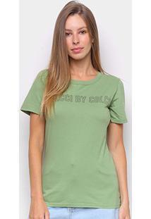 Camiseta Colcci Estampada Feminina - Feminino-Verde+Verde Escuro