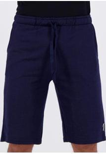 Bermuda Moletom Golf Valentin Masculina - Masculino-Azul